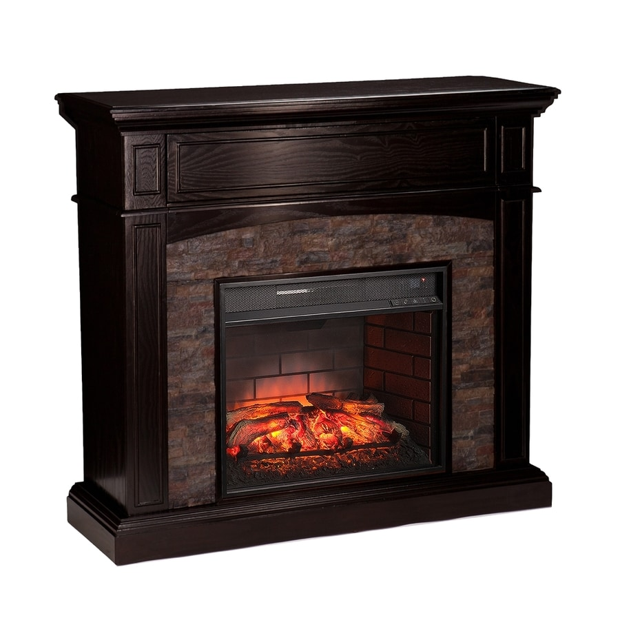 Boston Loft Furnishings 45.5-in W Ebony Infrared Quartz Electric Fireplace with Thermostat and Remote Control