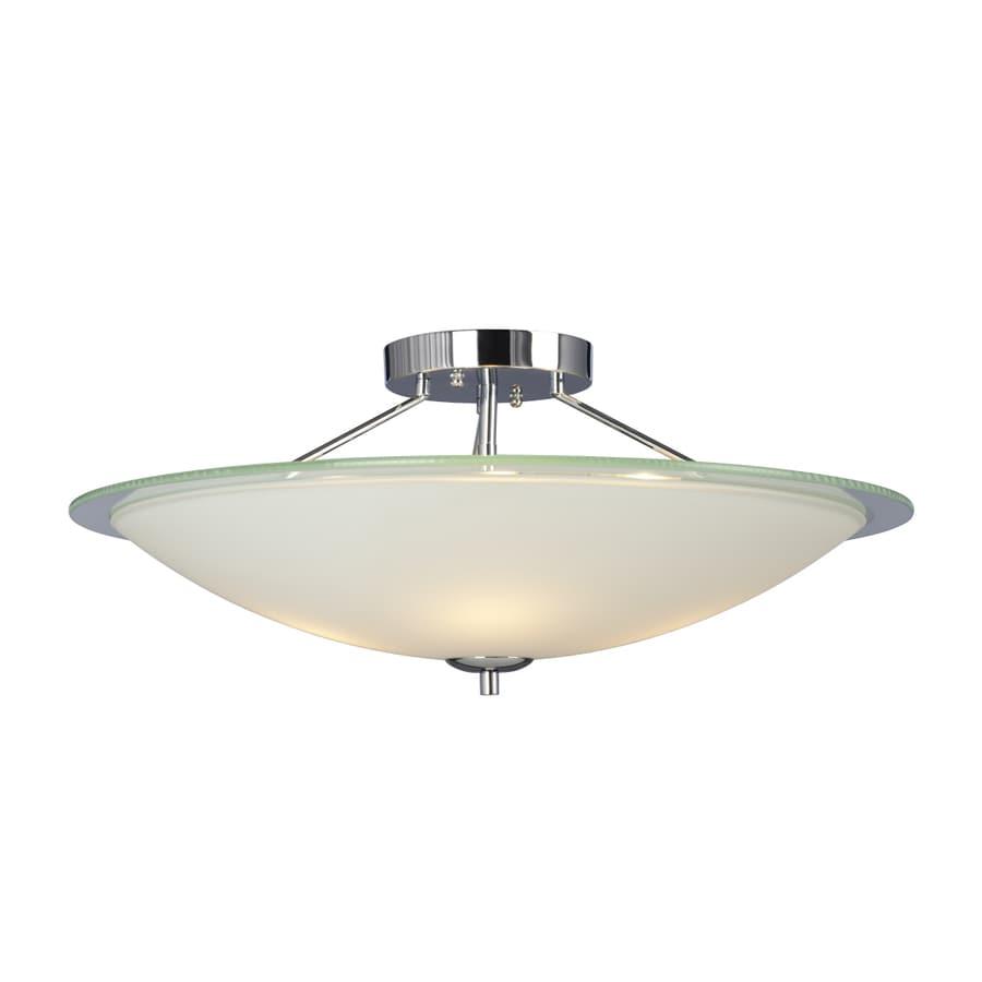 Galaxy Rondo 22-in W White Opalescent Glass Semi-Flush Mount Light