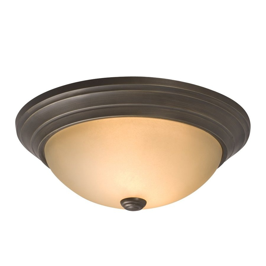 Galaxy 13.125-in W Oiled Rubbed Bronze Flush Mount Light
