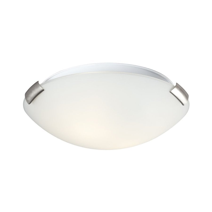 Galaxy Sola 12-in W Brushed Nickel Flush Mount Light