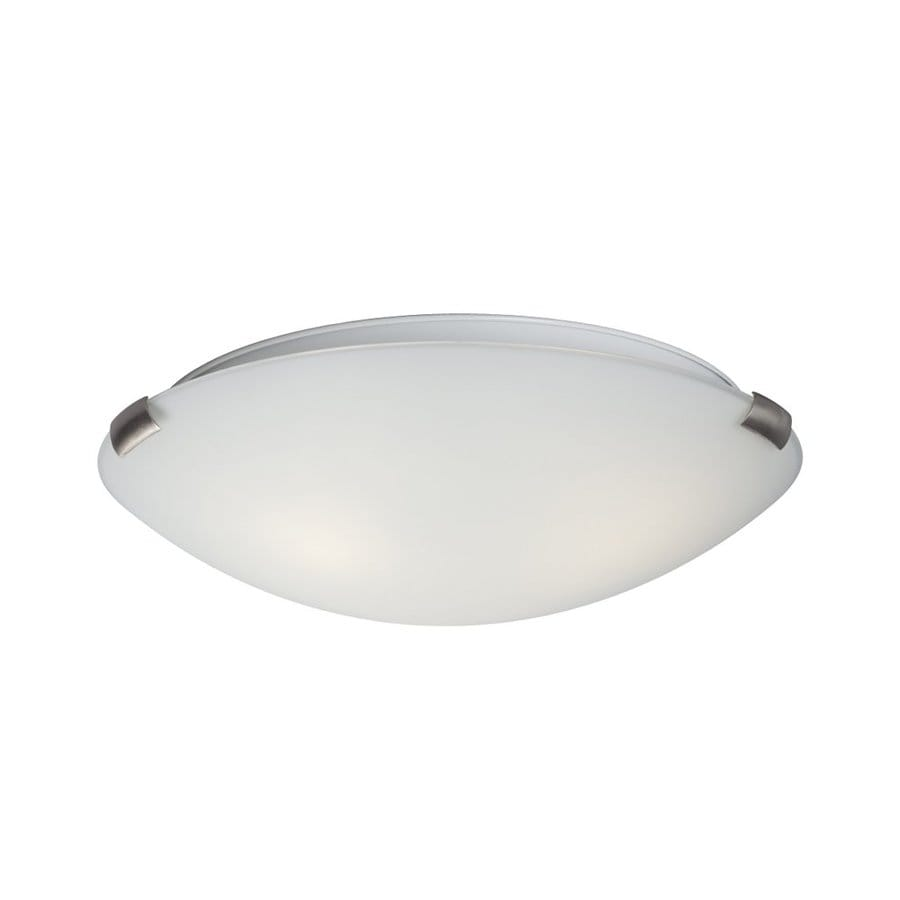 Galaxy Sola 16-in W Brushed Nickel Flush Mount Light