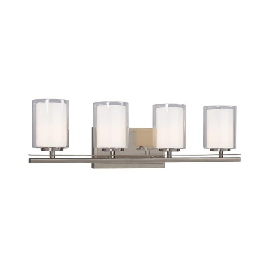 Galaxy Bradley 4-Light Brushed Nickel Cylinder Vanity Light