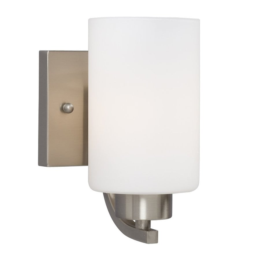 Galaxy Pittman 1-Light 7.75-in Brushed Nickel Cylinder Vanity Light
