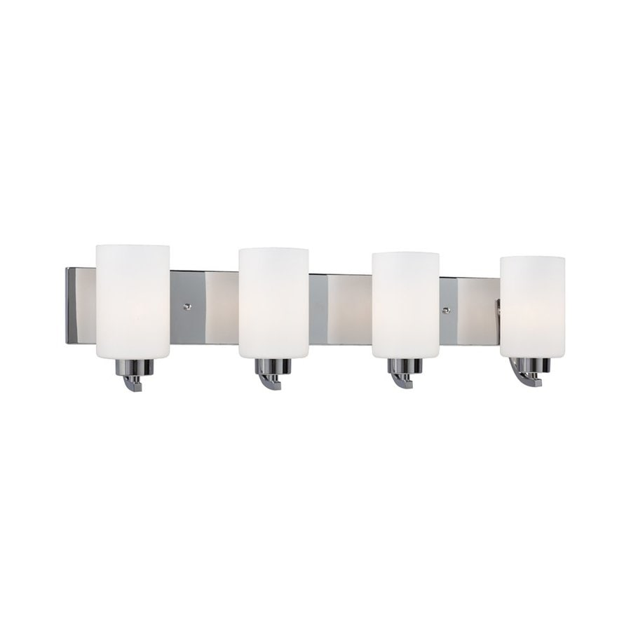Galaxy Pittman 4-Light 7.75-in Polished Chrome Cylinder Vanity Light