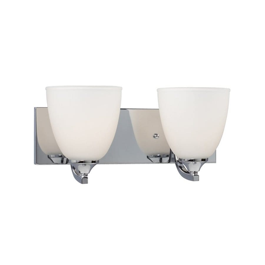 Galaxy Creston 2-Light 6.875-in Polished Chrome Bell Vanity Light