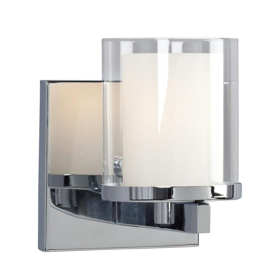Galaxy Alden 1-Light 5.5-in Polished Chrome Cylinder Vanity Light