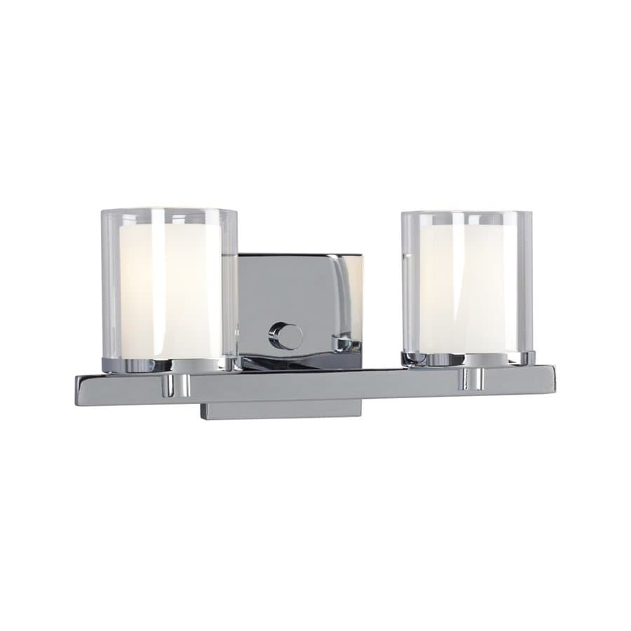 Galaxy Alden 2-Light 5.5-in Polished Chrome Cylinder Vanity Light