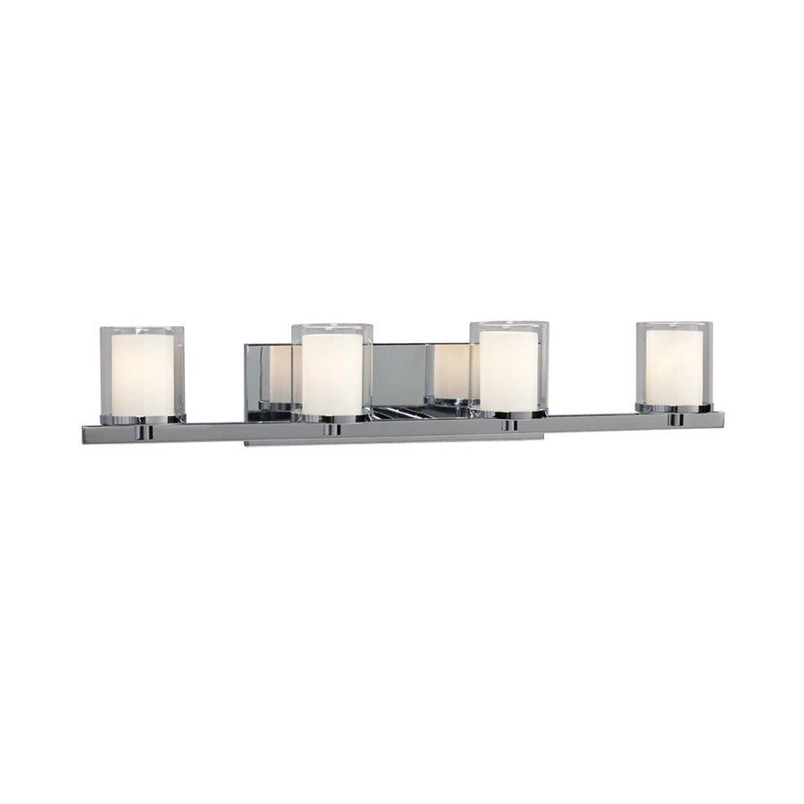 Galaxy Alden 4-Light 5.5-in Polished chrome Cylinder Vanity Light