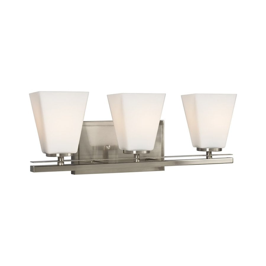 Galaxy Bradley II 3-Light Brushed Nickel Bell Vanity Light