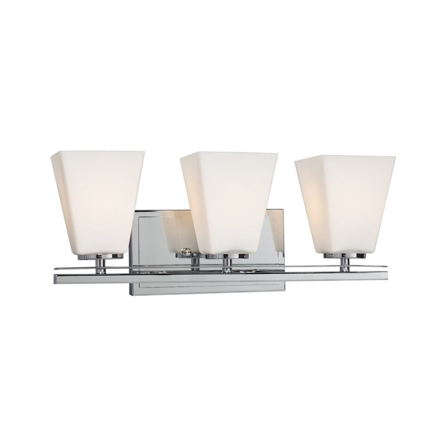 Vanity Lights Not Hardwired : Shop Galaxy Bradley II 3-Light 7.5-in Polished Chrome Bell Vanity Light at Lowes.com