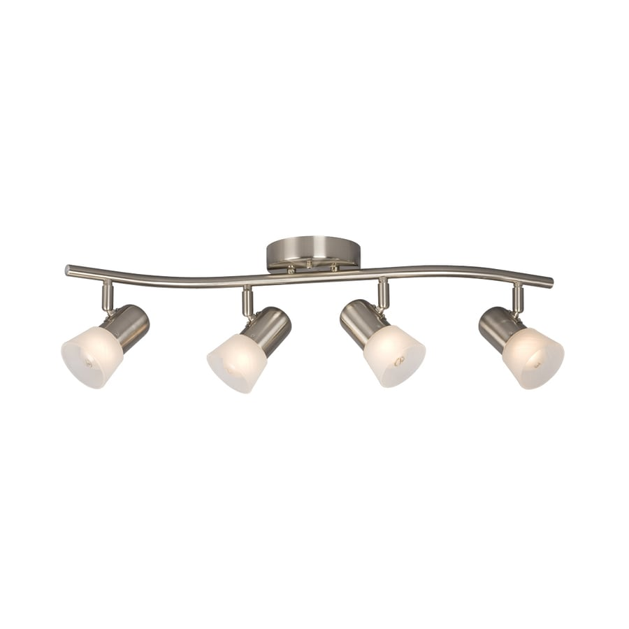 Shop galaxy luna iii 4 light 265 in brushed nickel track bar fixed galaxy luna iii 4 light 265 in brushed nickel track bar fixed track light aloadofball Choice Image