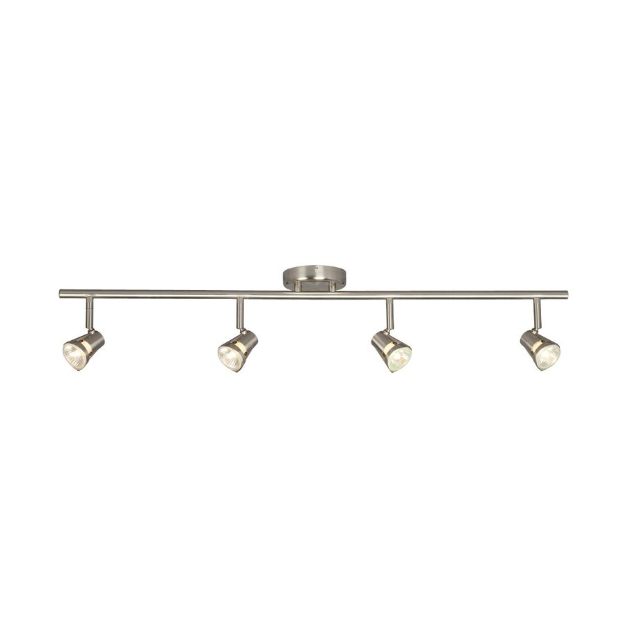 Galaxy 4-Light 35-in Brushed Nickel Dimmable Fixed Track Light Kit