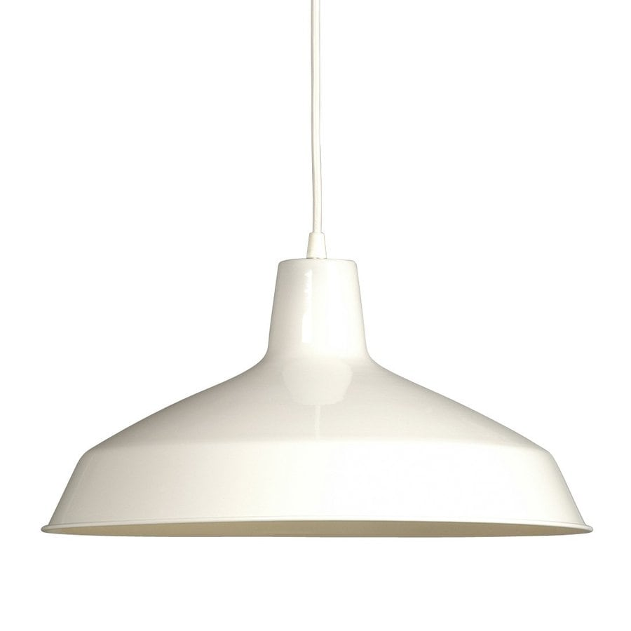 Galaxy 15.625-in White Single Warehouse Pendant