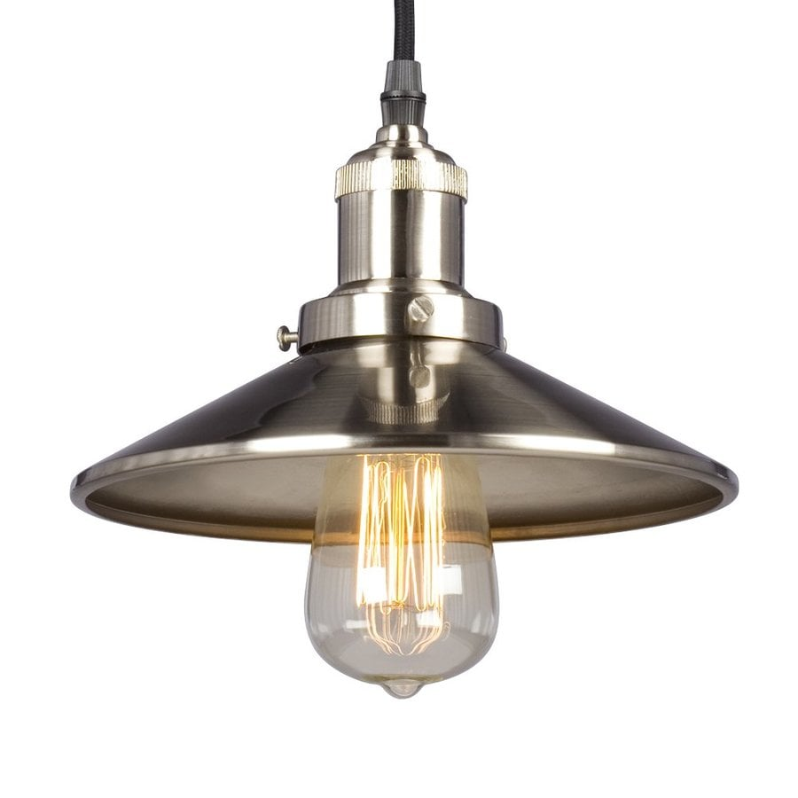 Galaxy 8.625-in Brushed Nickel Industrial Mini Warehouse Pendant