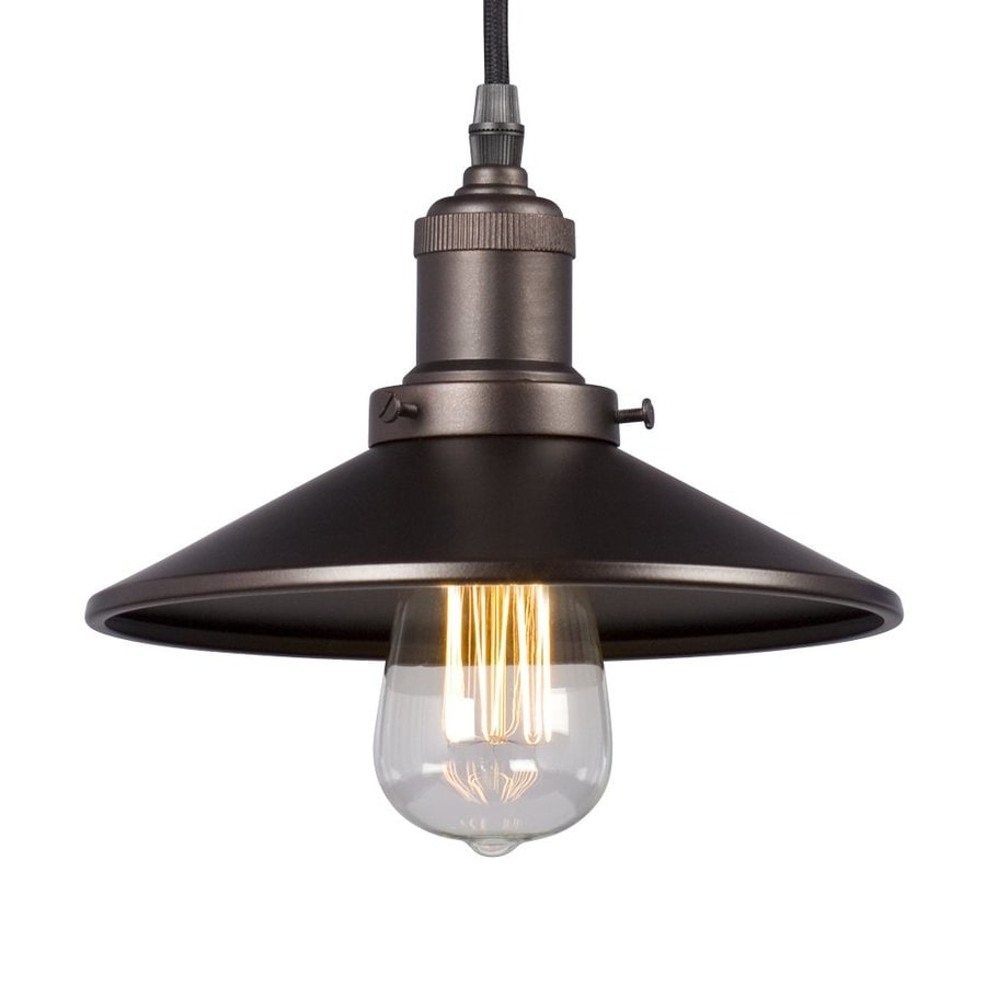 Galaxy 8.625-in Bronze Industrial Mini Warehouse Pendant
