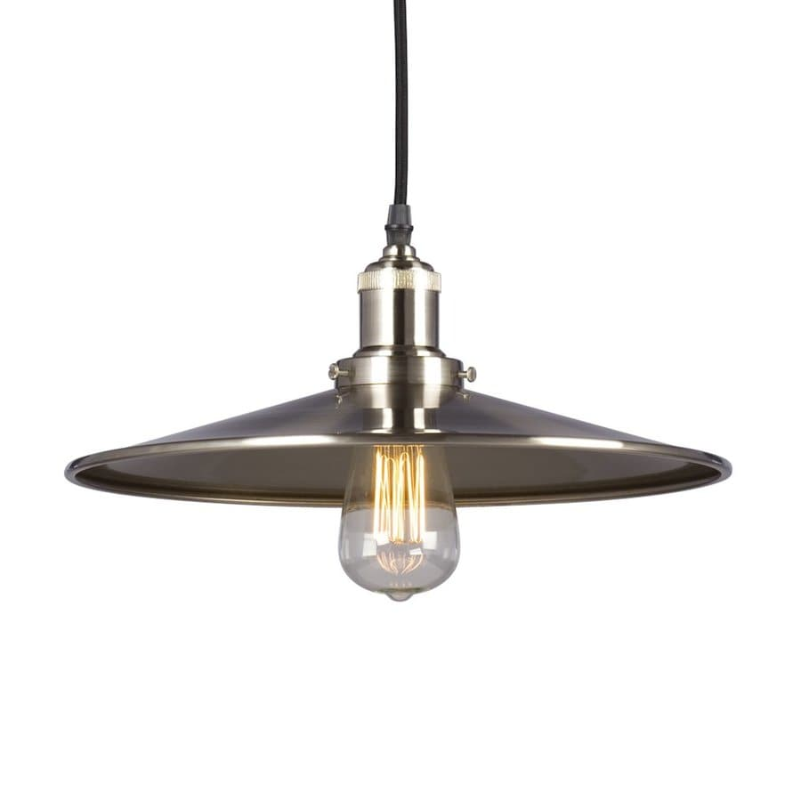 Galaxy 13.75-in Brushed Nickel Industrial Single Warehouse Pendant