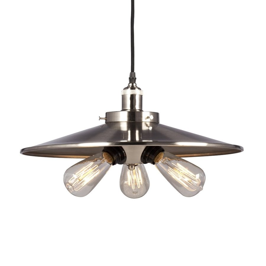 Galaxy 17.75-in Brushed Nickel Industrial Single Warehouse Pendant