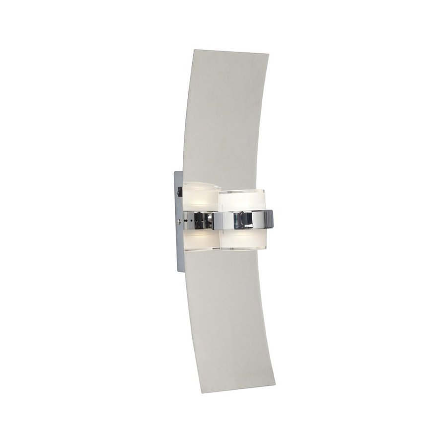 Galaxy 4.825-in W 1-Light Chrome Wall Wash LED Wall Sconce