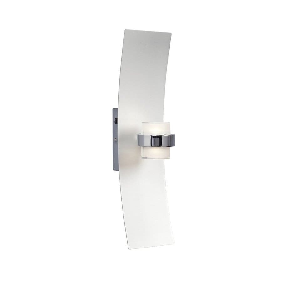 Galaxy 4.825-in W 1-Light Silver Wall Wash LED Wall Sconce