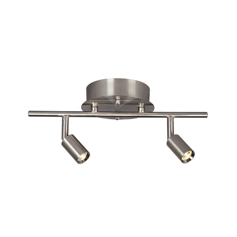 Galaxy Genus 2-Light 13.5-in Brushed Nickel Dimmable Fixed Track Light Kit