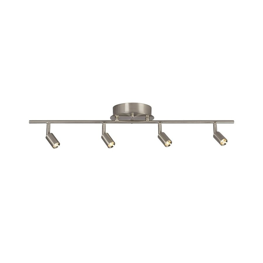 light brushed nickel dimmable fixed track light kit at lowes