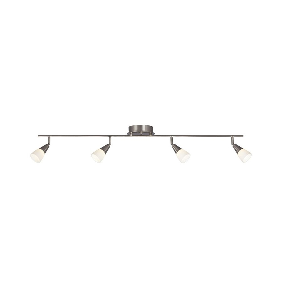 Galaxy Newburn 4-Light 46.125-in Brushed Nickel Dimmable Fixed Track Light Kit