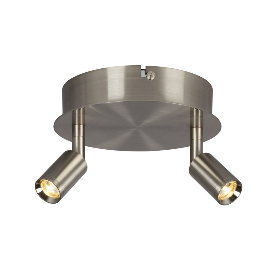 Galaxy Genus 6.75-in W Brushed Nickel LED Semi-Flush Mount Light
