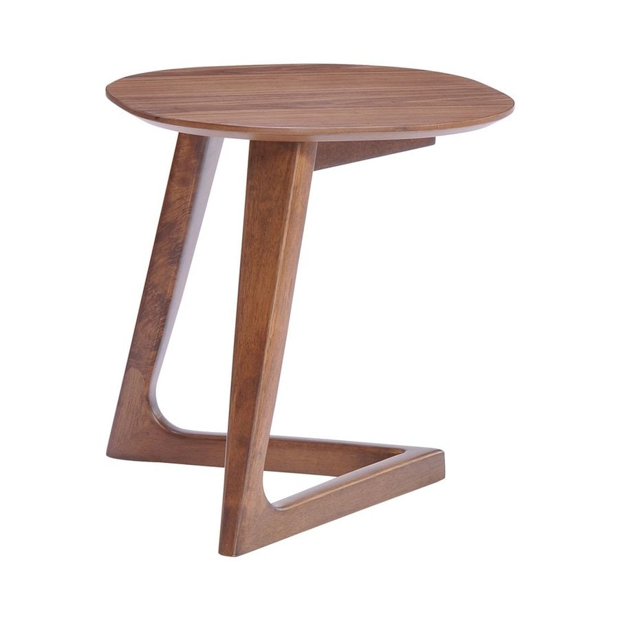 Zuo Modern Park West Walnut Rubberwood Round End Table