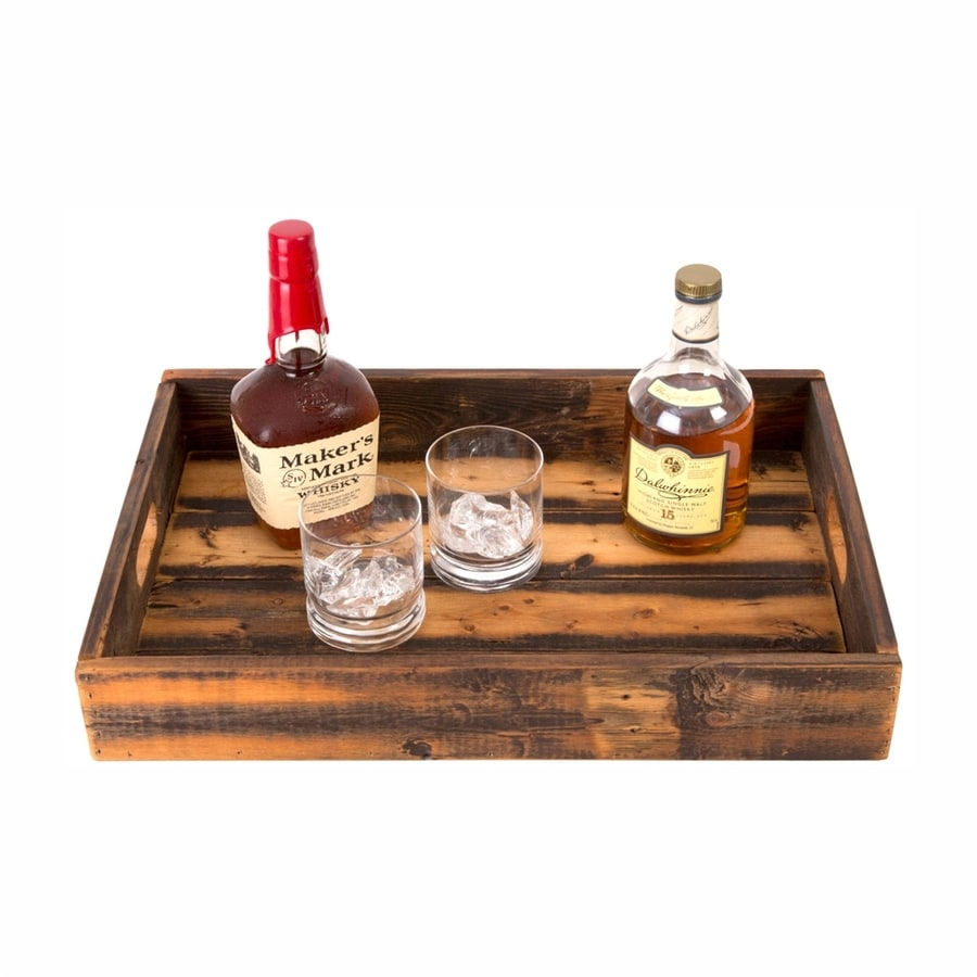 (del)Hutson Design 21-in x 14-in Reclaimed Wood Rectangular Serving Tray
