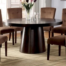 furniture of america havana espresso composite round dining table - Dining Table Round