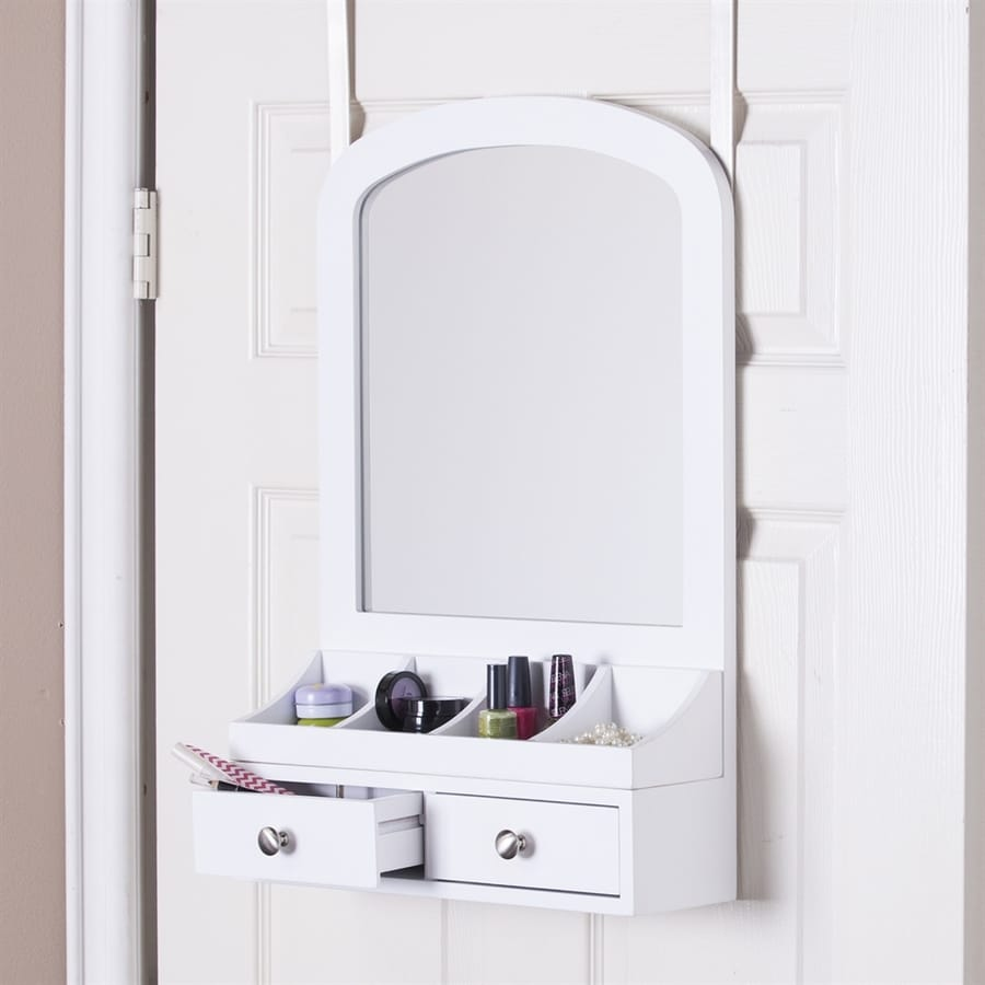 Boston Loft Furnishings Myra White Over-The-Door Jewelry Armoire