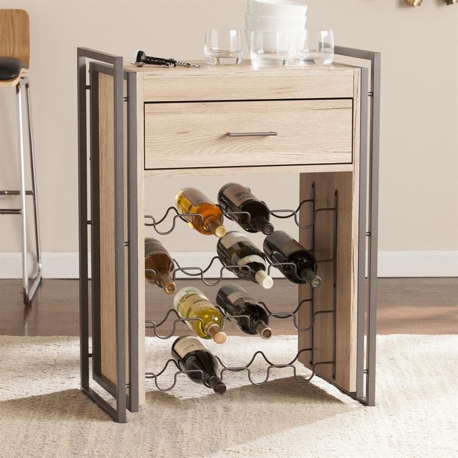 Boston Loft Furnishings Arbo 16-Bottle Gunmetal Gray Freestanding Floor Wine Rack
