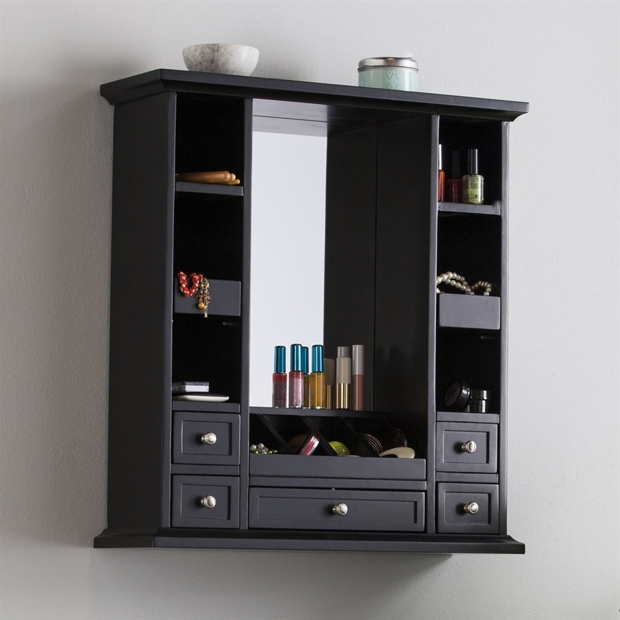 Boston Loft Furnishings Bricard Black Over The Door Jewelry Armoire