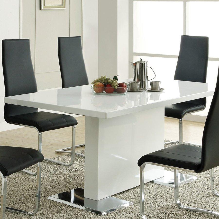 Coaster Fine Furniture Nameth White Rectangular Dining Table