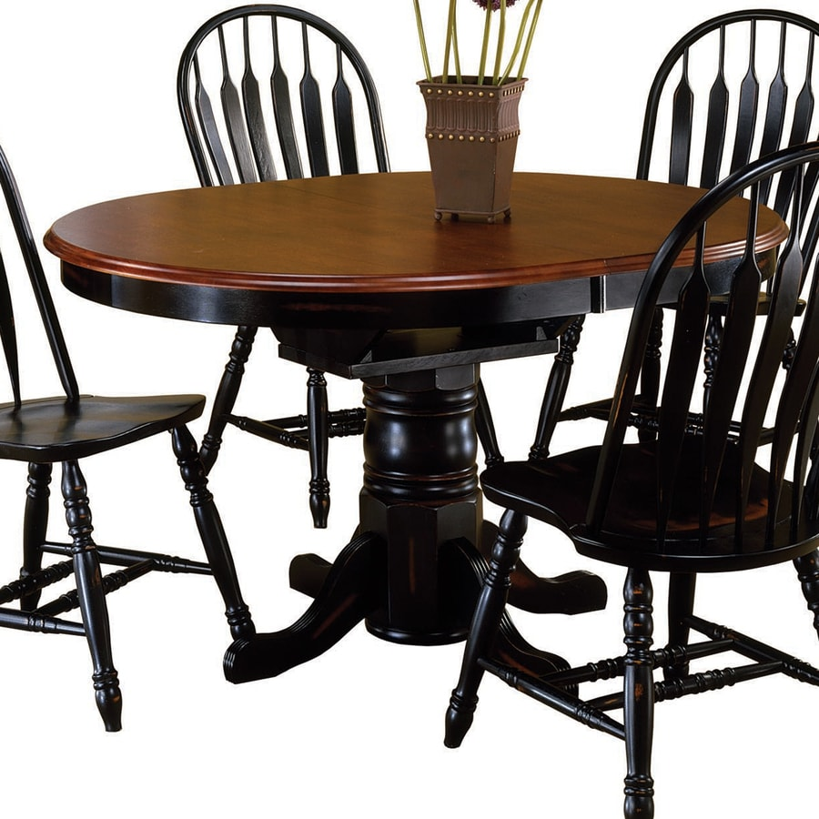 Sunset Trading Antique Black/Cherry Oval Dining Table