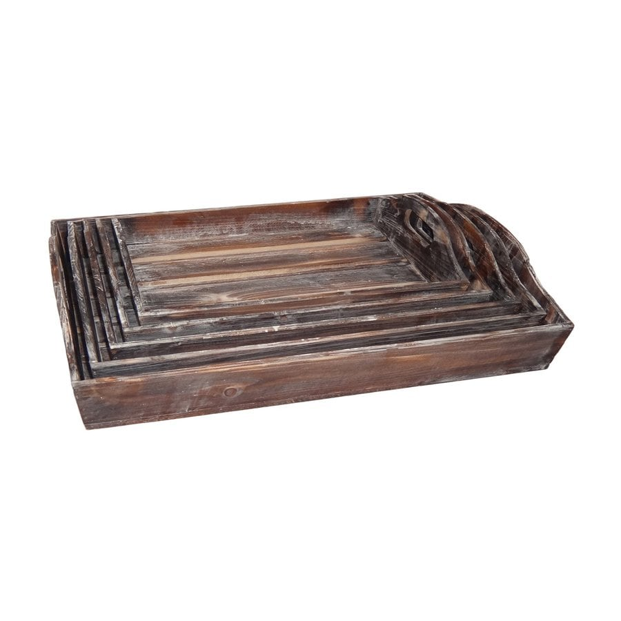 Cheung's Set of 3 Wood Rectangular Serving Trays