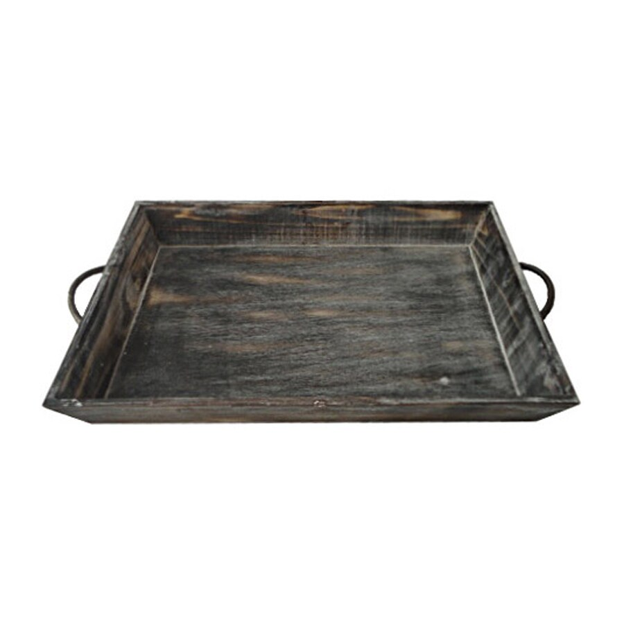 Cheung's 18.5-in x 12.5-in Wood Rectangular Serving Tray