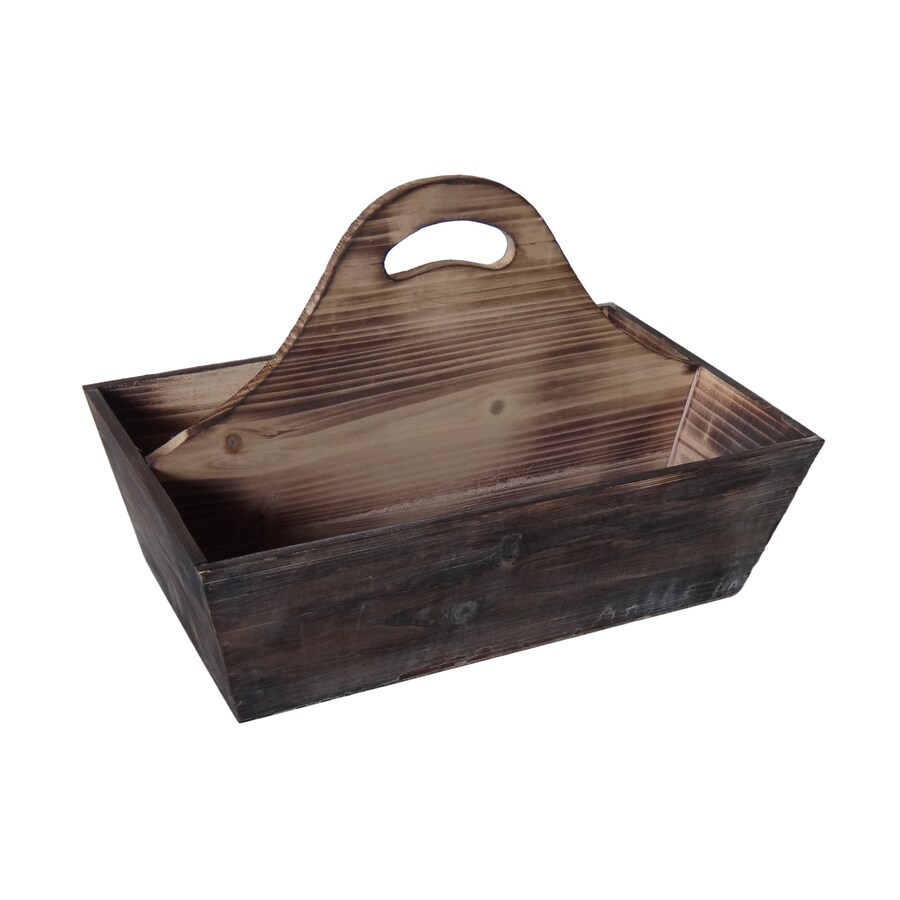 Cheung's 10-in x 6-in Brown 2 Divided Wood Rectangular Serving Caddy