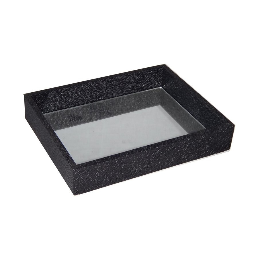 Cheung's Wood and Vinyl Tray with Mirrored Surface