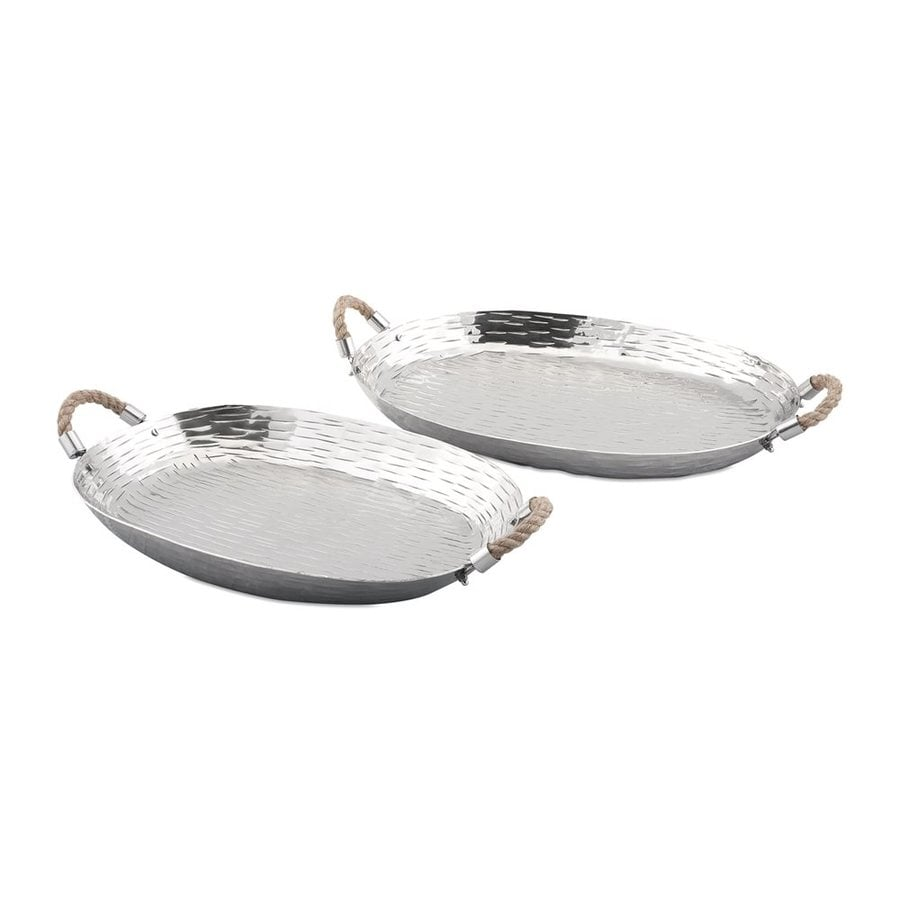 Imax Worldwide Set of 2 Aluminum Trays