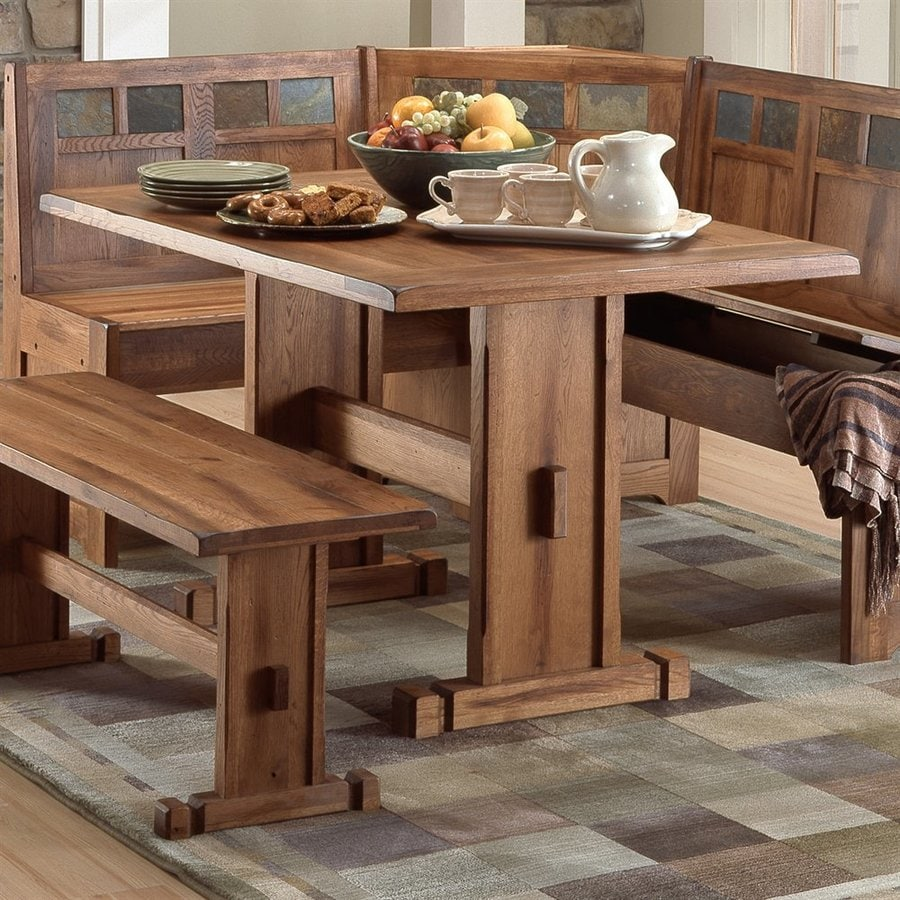 Rustic Wooden Kitchen Table Shop Dining Tables At Lowescom