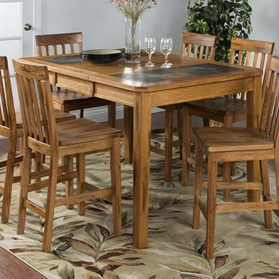 Merveilleux Sunny Designs Sedona Rustic Oak Wood Extending Dining Table