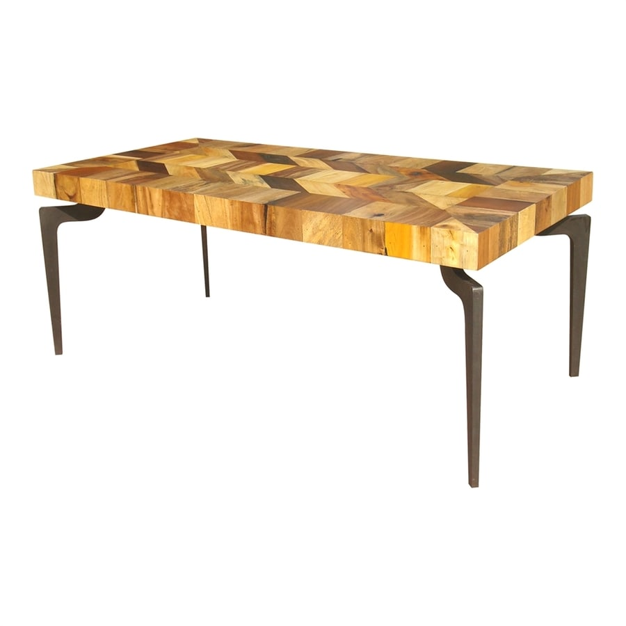 Moe's Home Collection Gajel Natural Reclaimed Wood Rectangular Dining Table