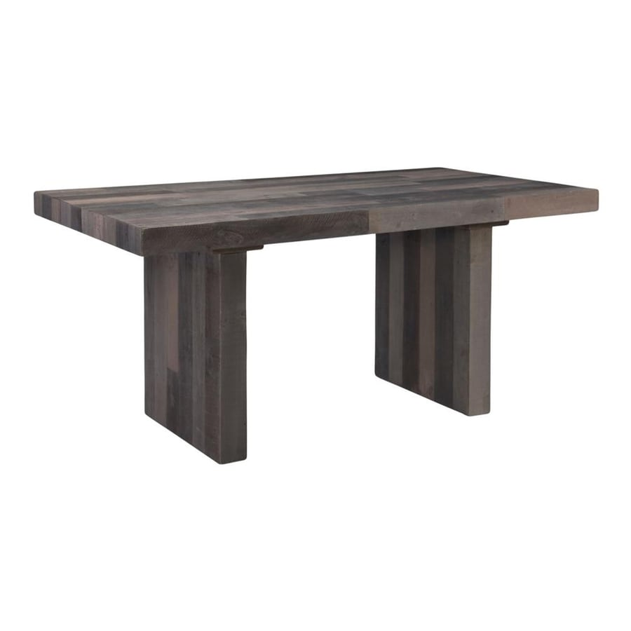 Shop moe 39 s home collection vintage wood dining table at for Shop dining tables