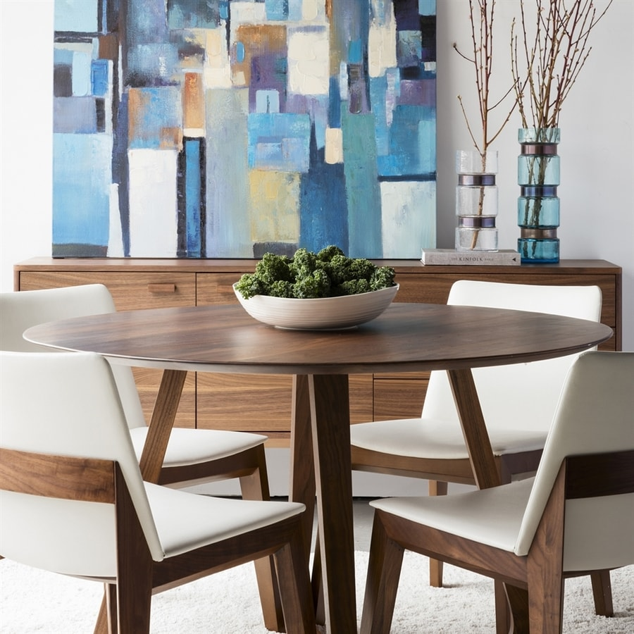 Shop Moe S Home Collection Godenza Wood Round Dining Table