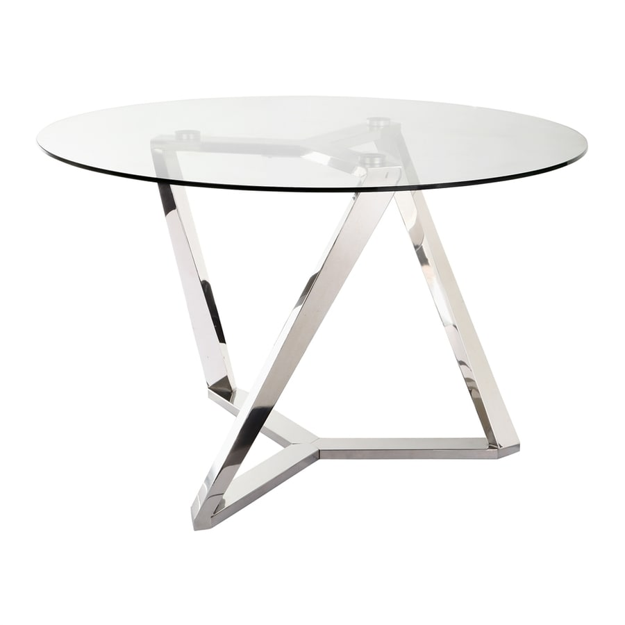 Moe's Home Collection Clifton Silver Round Dining Table