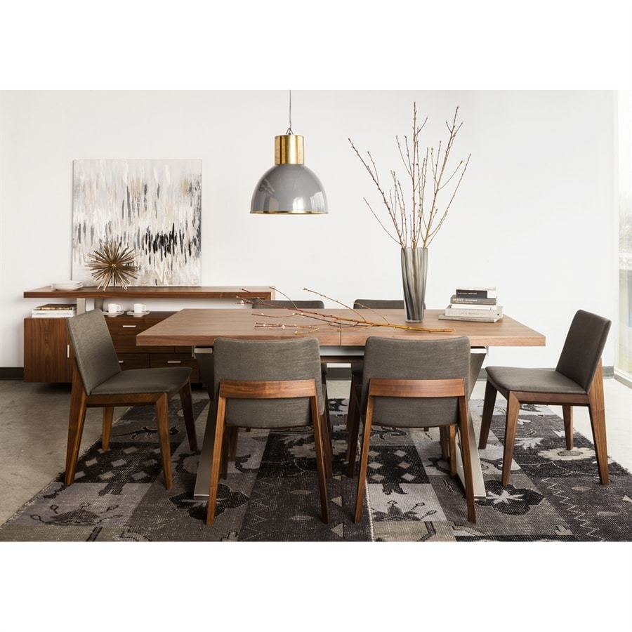 Moe's Home Collection Cabello Walnut/Stainless Steel Rectangular Dining Table