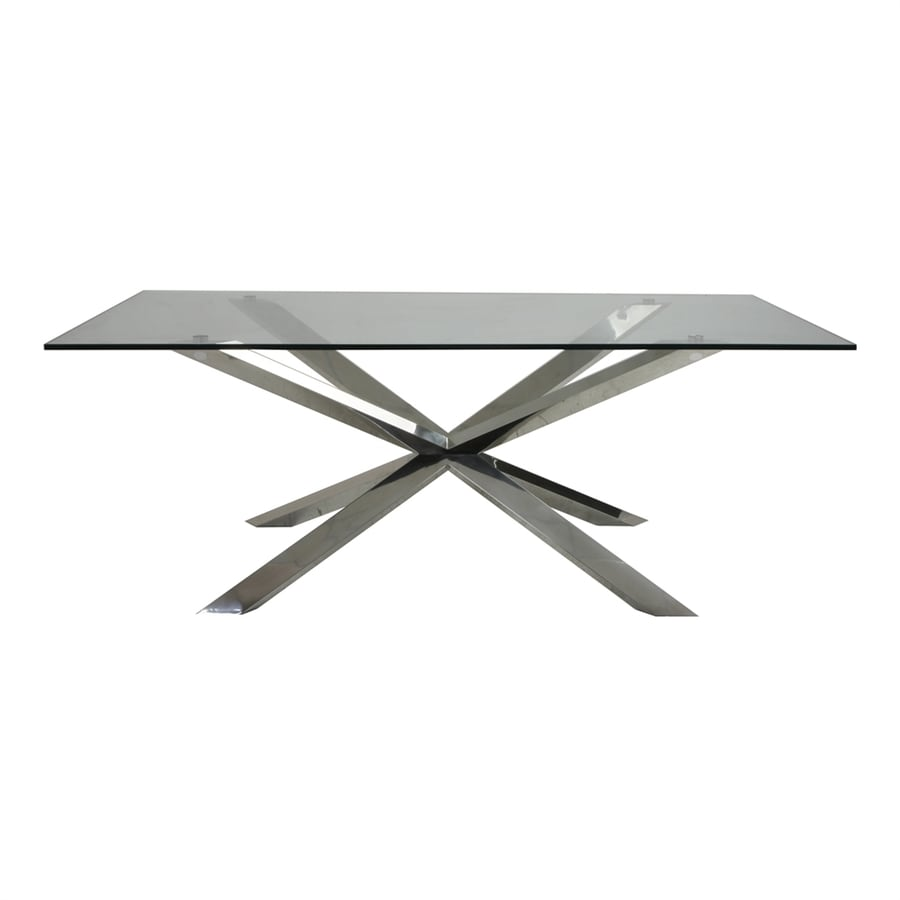 Moe's Home Collection Braga Brushed Stainless Steel Rectangular Dining Table