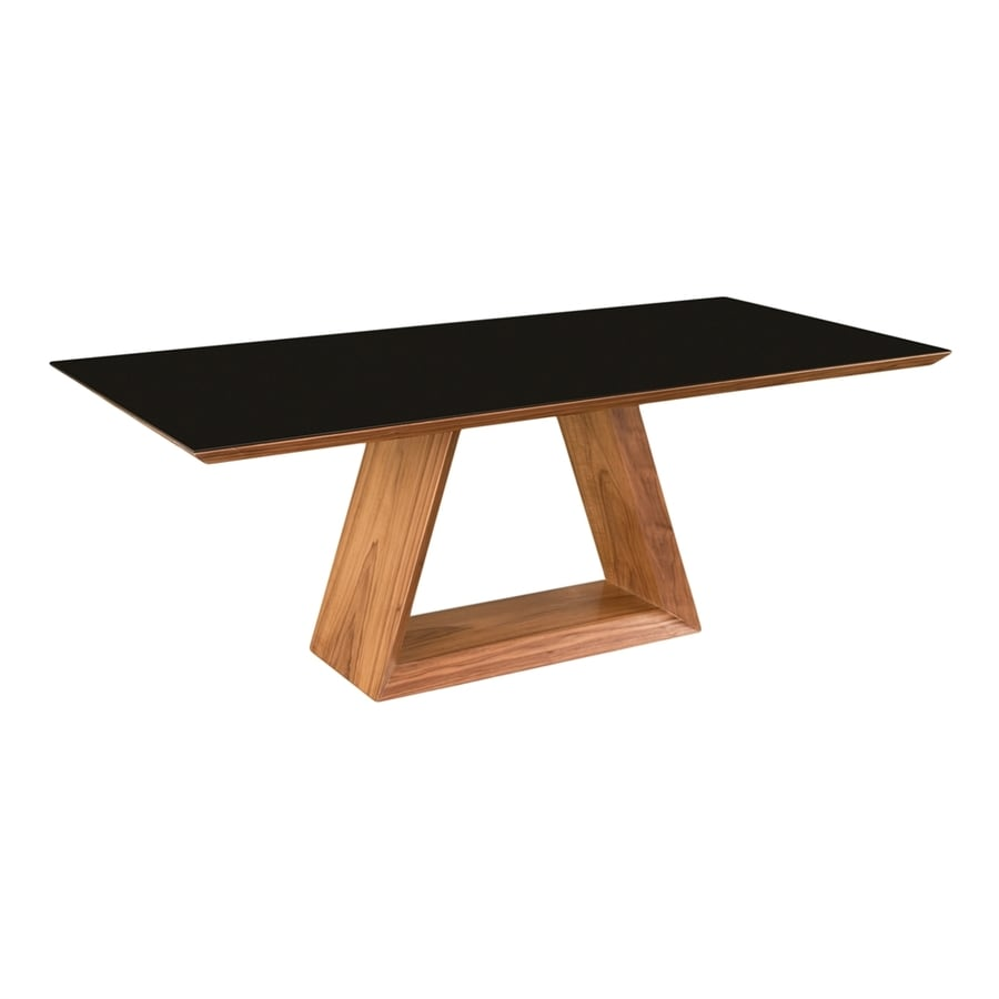 Shop moe 39 s home collection lagarno tempered glass dining for Tempered glass dining table