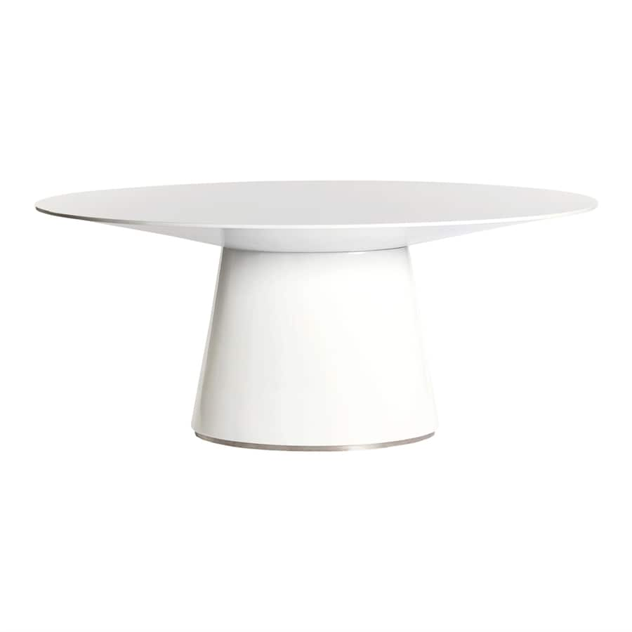 Moe's Home Collection Otago High Gloss White Oval Dining Table